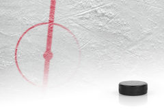Fragment Of Ice Hockey Rink Hockey Stock Photography