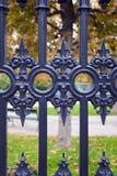 Fragment Of Iron Gate. Royalty Free Stock Photo