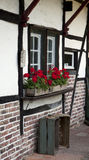 Fragment Of Old Timbered Farmhouse South Limburg Stock Images