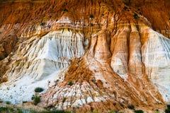 Fragment Of Orange-white Sand Mountain Royalty Free Stock Photo