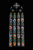 Fragment Of Stained Glass Royalty Free Stock Photos