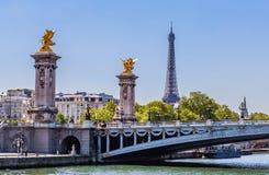 Free Fragment Of The Alexander III Bridge Across The Seine Stock Photo - 106231660