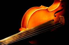 Fragment Of Violin Stock Photo