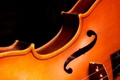Fragment Of Violin Royalty Free Stock Images
