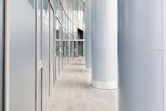 Fragment of office building with columns. Stock Image