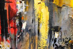 Oil on canvas. Fragment oil on canvas close up royalty free stock images