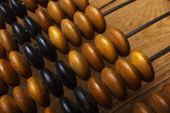 Fragment of old abacus. Close up Royalty Free Stock Images