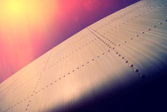 Fragment of the old airplane fuselage Royalty Free Stock Photography