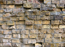 Fragment of old brick wall Royalty Free Stock Photo
