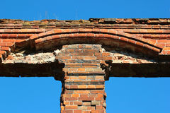 Fragment of old brick building Royalty Free Stock Photography