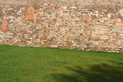 Fragment of old brick fortress wall Royalty Free Stock Photo