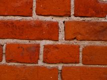 A fragment of an old brick wall. royalty free stock photography