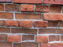The fragment of the old brick wall Stock Images