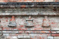 Fragment of old brickwork Stock Image