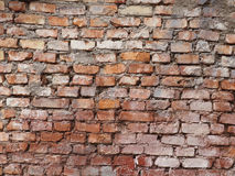 Fragment of the old brickwork background Royalty Free Stock Photo