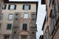 Fragment of old building in Lucca. Italy. Royalty Free Stock Image