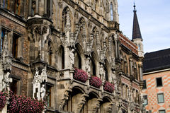 A fragment of an old building in Munich Stock Photo