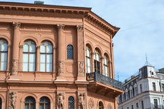 Fragment of old building in Riga. Stock Photography