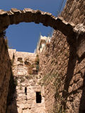 Fragment of old buildings in Bethany Bible known village. Fragment of old buildings in Bethany Bible known from the village where they lived Lazarus, Mary and Royalty Free Stock Photos