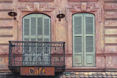 Fragment of the old city cafe Royalty Free Stock Photo