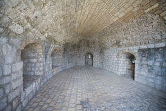 Fragment of old city walls in Ston Royalty Free Stock Photos