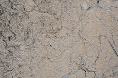 A fragment of the old clay wall, background Royalty Free Stock Images