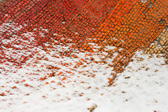 A fragment of an old colored mosaics Royalty Free Stock Images