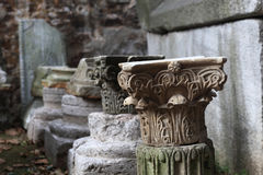 Fragment of old column Stock Image