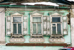 Fragment of old facade of the house Royalty Free Stock Photos