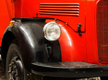 Fragment of the old fire engine Royalty Free Stock Photo