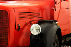 Fragment of the old fire engine Royalty Free Stock Photography