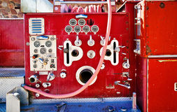 Fragment of old fire truck Stock Photography