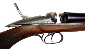 Fragment of old gun Royalty Free Stock Image