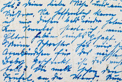 Fragment of an old handwritten letter Stock Photos