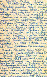 Fragment of an old handwritten letter Stock Image