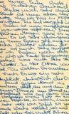Fragment of an old handwritten letter Stock Image