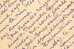 Fragment of an old handwritten letter, written in German. Can be Stock Images