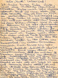 Fragment of an old handwritten letter, written in German. Can be Royalty Free Stock Photography