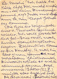 Fragment of an old handwritten letter, written in German. Can be Stock Photo