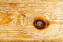 Fragment of old kiln-dried scratched wooden board as background. Stock Images