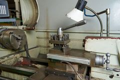 Fragment of the lathe. Fragment of the old lathe Royalty Free Stock Photos