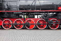 Fragment of old locomotive Stock Photo