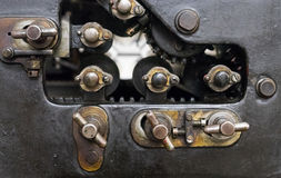 Fragment of the old machine in printing house Royalty Free Stock Photo