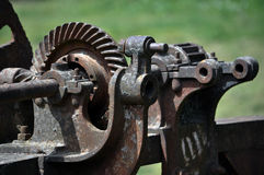Fragment of the old mechanism dam Stock Image