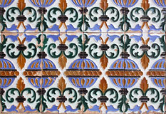 Fragment of an old ornament. Spain. Seville Stock Photos