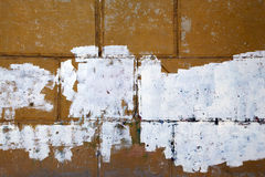Fragment of old peeling wall Royalty Free Stock Images