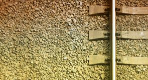 Fragment of the old railway track close-up. royalty free stock images