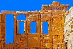Fragment of the Old Temple of Athena Stock Photos