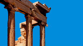 Fragment of the Old Temple of Athena Royalty Free Stock Image