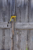 Fragment of Old Unpainted Door Royalty Free Stock Photo